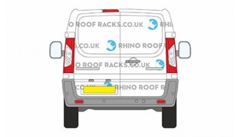 Citroen Dispatch SWB L1 Twin Rear Doors Roof Racks