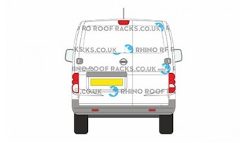 Nissan NV200 Twin Doors Roof Racks - Roof Bars