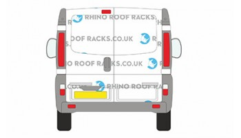 Primastar SWB LR Twin Rear Doors - Roof Racks