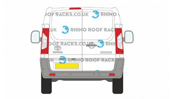 Toyota ProAce LWB L2 Twin Rear Doors - Roof Racks