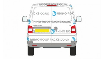 VW Transporter T5 SWB Rhino Roof Racks & Bars - Twin Doors