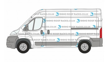 Boxer L2 MWB High Roof Racks and Bars