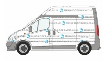 Renault Trafic Roof Racks to 2014 SWB High Roof