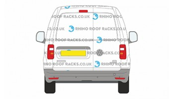 Caddy SWB Twin Rear Doors - Roof Racks