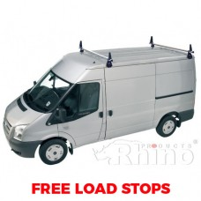2 x Rhino Delta Roof Bars - Sprinter 2000 - 2006 MWB Low Roof