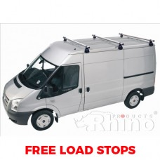 3 x Rhino Delta Roof Bars - Sprinter 2000 - 2006 MWB Low Roof