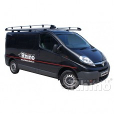 Rhino Aluminium Roof Rack - Vivaro 2002 - 2014 LWB Low Roof Tailgate