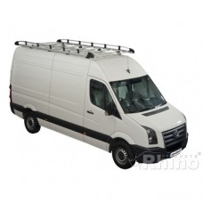 Rhino Aluminium Roof Rack - Crafter 2006 on SWB Low Roof