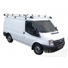 Rhino Aluminium Roof Rack - Transit 2000 - 2014 SWB Low Roof Twin Doors