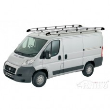 Rhino Aluminium Roof Rack - Ducato 2006 on MWB High Roof