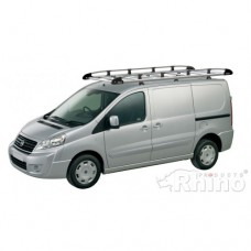 Rhino Aluminium Roof Rack - ProAce 2012 on SWB Low Roof Tailgate