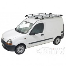 Rhino Aluminium Roof Rack - Kangoo 2008 on SL Twin Doors