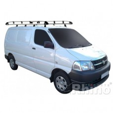 Rhino Aluminium Roof Rack - Hi-Ace LWB Twin Doors