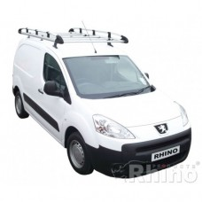 Rhino Aluminium Roof Rack - Partner 2008 on LWB Tailgate