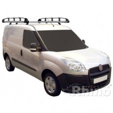 Rhino Aluminium Roof Rack - Doblo 2010 on SWB Twin Doors