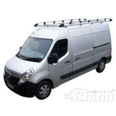 Rhino Aluminium Roof Rack - Movano 2010 on LWB (Med Roof) L3 H2 (not fibreglass roof)