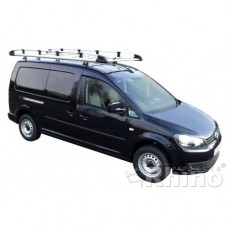 Rhino Aluminium Roof Rack - Caddy 2010 GP on Maxi Tailgate