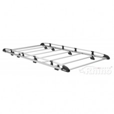 Rhino Aluminium Roof Rack - Transit 2014 on New Shape L2 H2 Twin Doors
