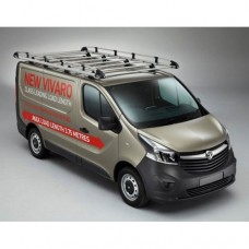 Rhino Aluminium Roof Rack - Vivaro 2014 on LWB Low Roof Tailgate