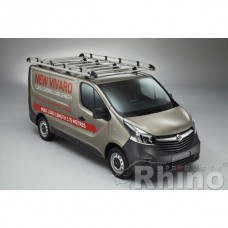 Rhino Aluminium Roof Rack - Vivaro 2014 on LWB High Roof Twin Doors