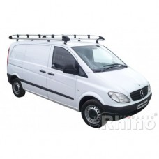 Rhino Aluminium Roof Rack - Vito 2015 on Compact Low Roof Twin Doors