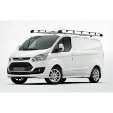 Rhino Aluminium Roof Rack - Transit Custom 2012 on SWB Low Roof Tailgate