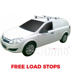2 x Rhino Delta Roof Bars (not for sportive or with rails) - Astra Van 2006 on SWB Tailgate