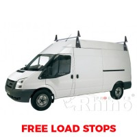2 x Rhino Delta Roof Bars - Sprinter 2000 - 2006 LWB High Roof