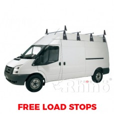 4 x Rhino Delta Roof Bars - Sprinter 2000 - 2006 MWB High Roof