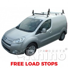 3 x Rhino Delta Roof Bars - Partner 2008 on LWB Tailgate