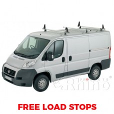 3 x Rhino Delta Roof Bars - Ducato 2006 on MWB Low Roof