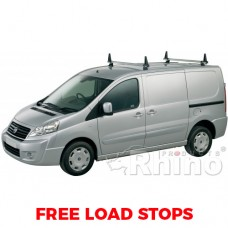 2 x Rhino Delta Roof Bars - ProAce 2012 on SWB Low Roof Tailgate