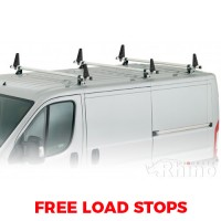 3 x Rhino Delta Roof Bars - Scudo 2007 - 2016 LWB High Roof Twin Doors