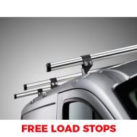 2 x Rhino Delta Roof Bars - ProAce 2016 on Compact Twin Doors