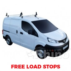 2 x Rhino Delta Roof Bars - NV200 2009 on SWB Twin Doors