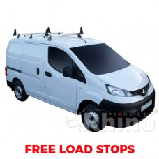 3 x Rhino Delta Roof Bars - NV200 2009 on SWB Twin Doors