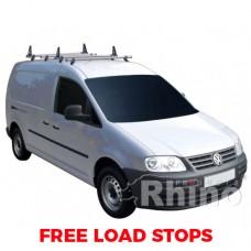 4 x Rhino Delta Roof Bars - Caddy 2015 on LWB Maxi