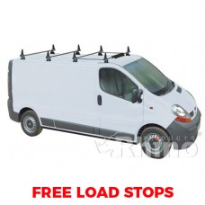 4 x Rhino Delta Roof Bars - Vivaro 2014 on SWB High Roof Twin Doors