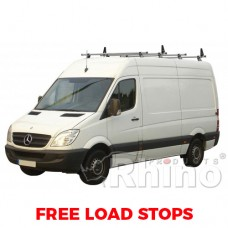 4 x Rhino Delta Roof Bars - Sprinter 2006 on MWB High Roof