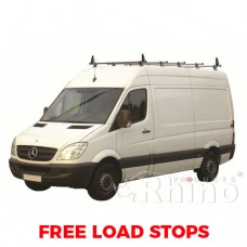 5 x Rhino Delta Roof Bars - Crafter 2006 on LWB High Roof