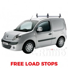 2 x Rhino Delta Roof Bars - Kangoo 2008 on SL Twin Doors