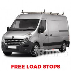 4 x Rhino Delta Roof Bars - Movano 2010 on LWB (Med Roof) L3 H2