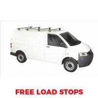 4 x Rhino Delta Roof Bars - Transporter T5 SWB Twin Doors