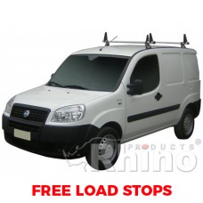 2 x Rhino Delta Roof Bars - Doblo 2000 - 2010 SWB Twin Doors