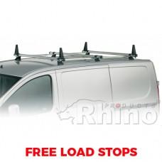 3 x Rhino Delta Roof Bars - Doblo 2000 - 2010 SWB Tailgate