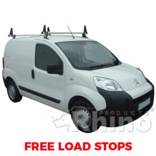 2 x Rhino Delta Roof Bars - Fiorino SWB Twin Doors