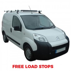 3 x Rhino Delta Roof Bars - Fiorino SWB Twin Doors