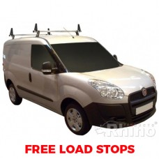 2 x Rhino Delta Roof Bars - Doblo 2010 on SWB Twin Doors
