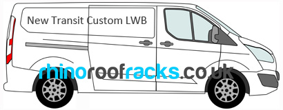 Ford Transit Custom LWB Roof Racks
